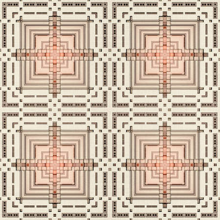 A geometrical 3d seamless pattern of a recursive rectangle fractal like the base of a pyramid