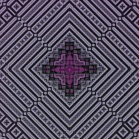 rhomb: A 3d ornamental rhomb pattern based on fractal algorithm
