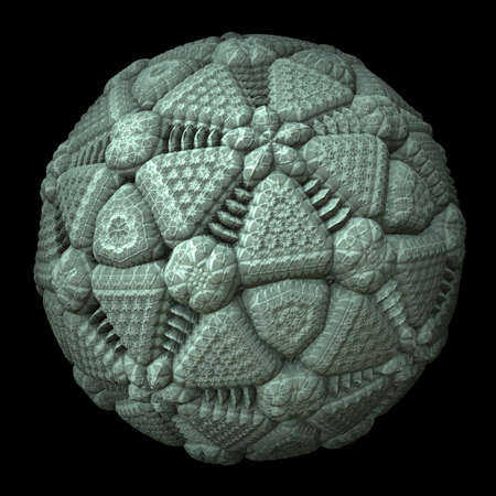 A high recursive pentagon sphere based on a 3d fractal. photo