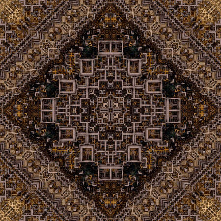 A seamless ornamentation by a complicated 3d grid. photo