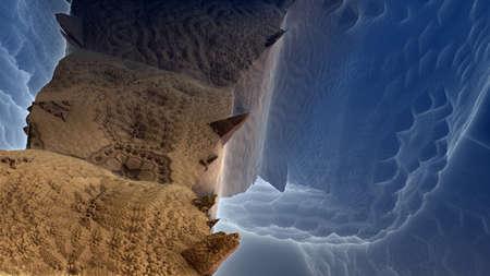recursive: A fantasy landscape of recursive fractal structures.