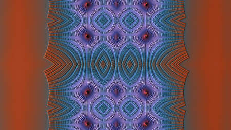 recursive: An abstract fractal pattern with a recursive geometry (3D Rendering).