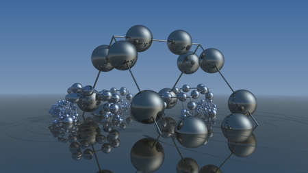 The bizarre world of recursive fractal spheres. (3D Rendering)