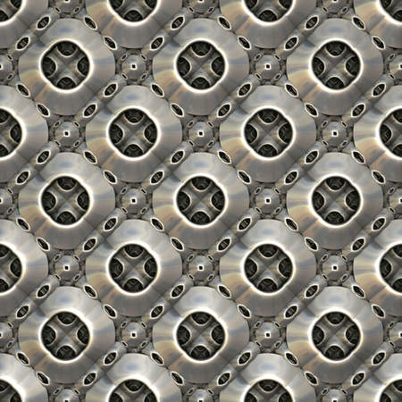 현대적인 장식 스타일의 금속 구호 패턴입니다. (3D 렌더링)