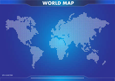 world map illustration, for poster, brochure, internet content. easy to modify Çizim