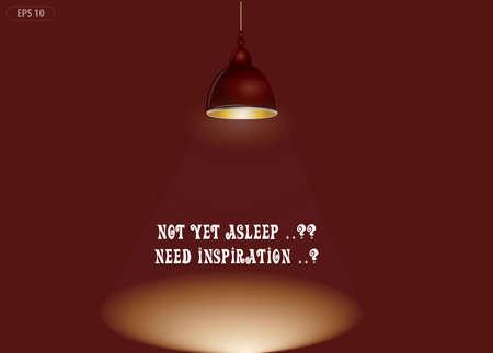 down light of inspiration illustration (not yet asleep..? need inspiration illustration).