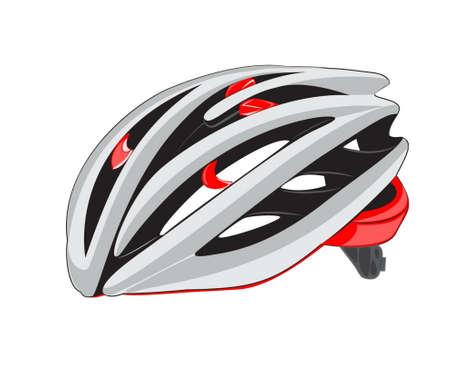 bicycle helmet: bike or bicycle helmet isolated