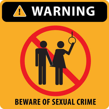 vandal: beware of sexual crime at public transportation (bus or train), isolated