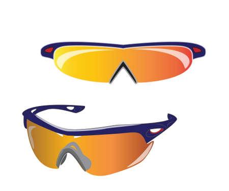 polarize: bike or bicycle sunglasses isolated