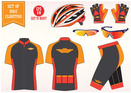 Bike or Bicycle clothing illustration, easy to modify