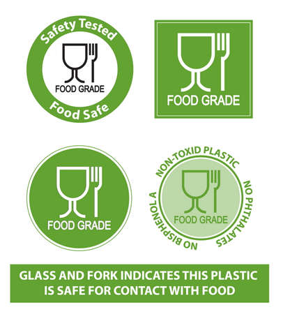 Plastic recycling symbols for food grade