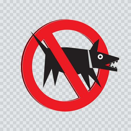 not allowed: dog not allowed sign Illustration