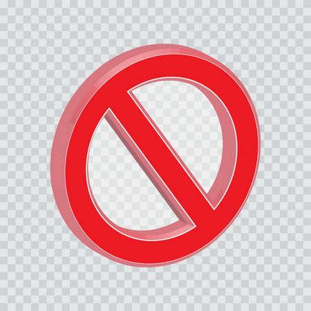 restrictive: do not enter or not allowed sign Illustration