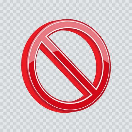 allowed: do not enter or not allowed sign Illustration
