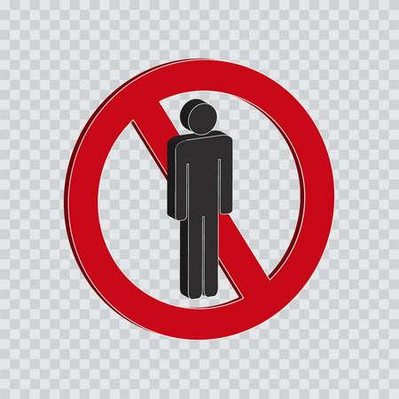 do not enter for Men or not allowed sign Illustration