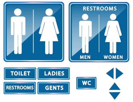 body outline: restroom or toilet sign