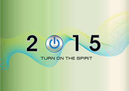 turn of the year: Happy New Year illustration for website or business presentation or poster. (TURN ON THE SPIRIT)