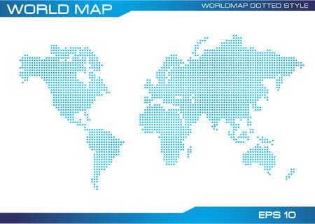 modificar: mapa del mundo estilo de ilustraci�n de puntos, f�cil de modificar