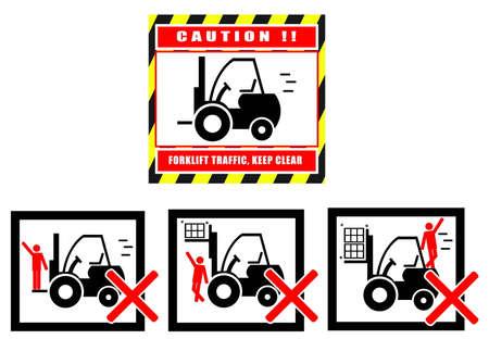 health hazard: Hazard Warning Sign Forklift Truck