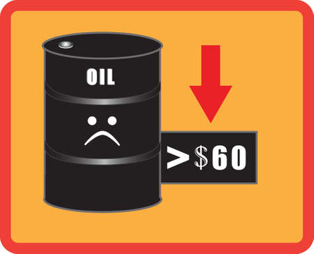 arrow poison: Oil loss of price or falling price oil illustration