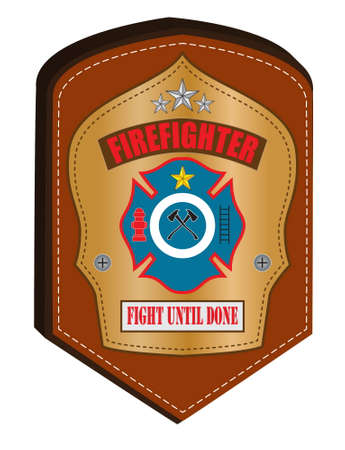 ladder safety: firefighter emblem