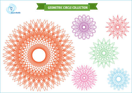 spirograph or round ornament or geometric circle isolated. editable and easy to modify for money design, voucher, currency, gift certificate, coupon, banknote, diploma, check, note. Vector