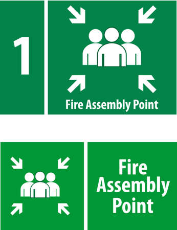 of them: Fire Assembly Point Sign Illustration