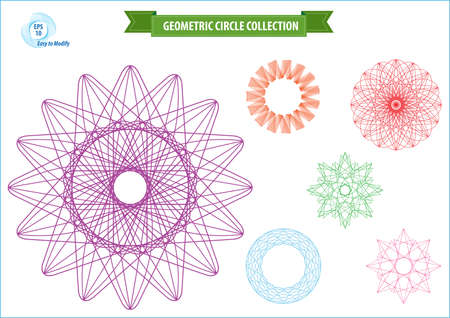 easy money: spirograph or round ornament or geometric circle isolated. editable and easy to modify for money design, voucher, currency, gift certificate, coupon, banknote, diploma, check, note. Illustration