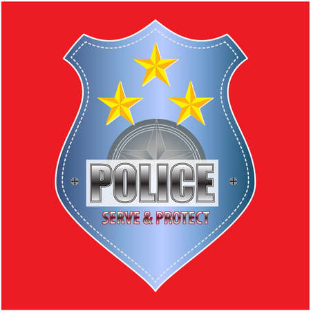 federal police: Vector Police Badge isolated Illustration