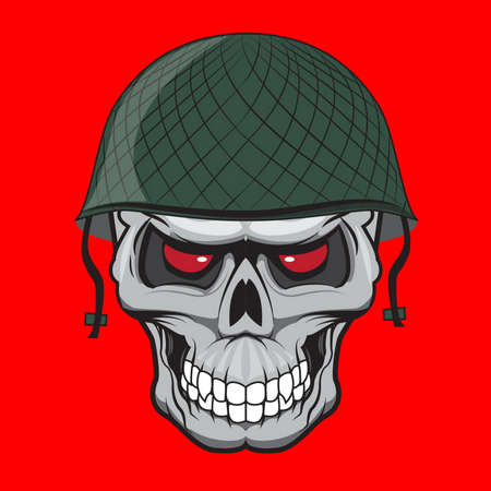 special forces: skull soldier illustration isolated. doodle style Illustration