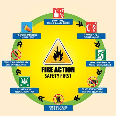 evacuacion: ACCI�N CONTRA INCENDIOS Vectores