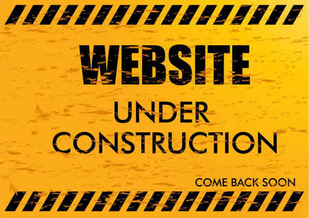 Website Under Construction. easy to remove scratch. Vector