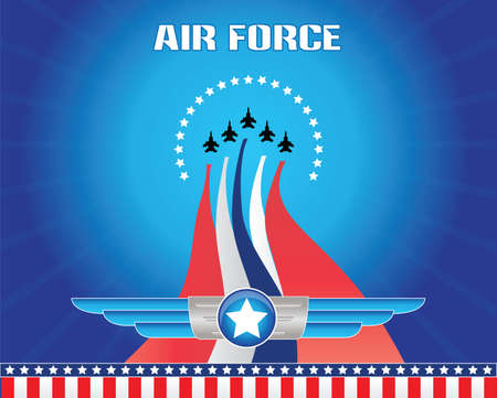 air force illustration Stock Illustratie