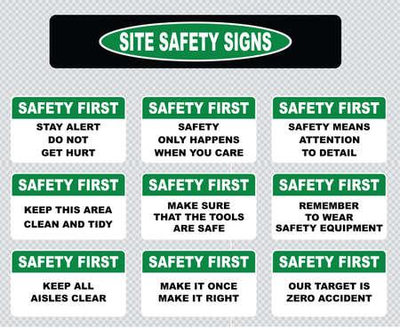 señales de seguridad: Señal de seguridad del Sitio o la seguridad primera señal