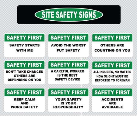 seguridad e higiene: Señal de seguridad del Sitio o la seguridad primera señal