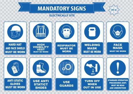 compulsory: Electrically Mandatory Sign