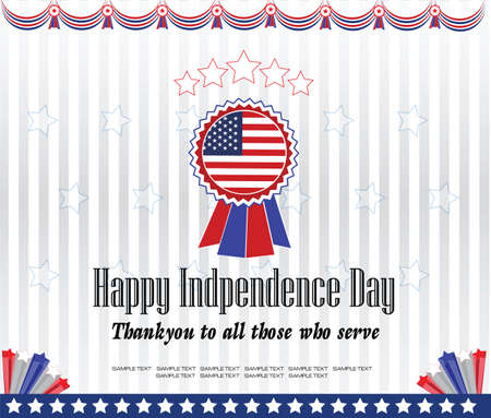modify: modern independence day background or independence backdrop, for presentation or printing. easy to modify. Illustration