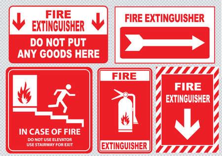 salida de emergencia: Salida de emergencia contra incendios Vectores