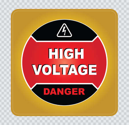 safety sign: high voltage sign or electrical safety sign high voltage electric fence can cause serious injury or death do not entry skull