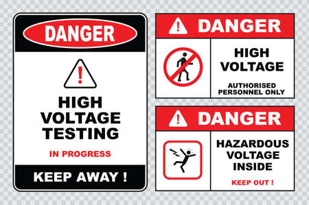 electrical safety: high voltage sign or electrical safety sign high voltage electric fence can cause serious injury or death do not entry skull