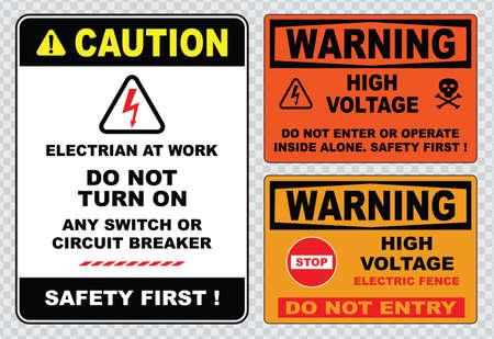 高電圧記号または電気安全標識高電圧電気柵は深刻な傷害を引き起こす可能性がまたは死かないエントリ スカル