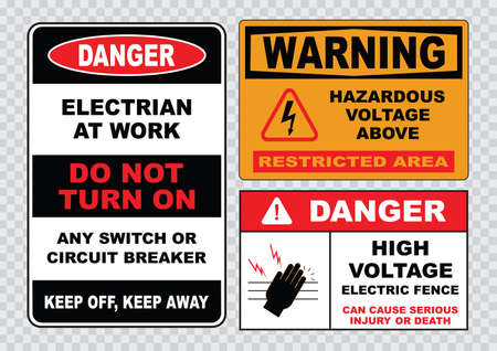 señales de seguridad: signo de alto voltaje o señal de seguridad eléctrica de alta tensión cerca eléctrica puede causar lesiones graves o la muerte no lo hacen cráneo entrada