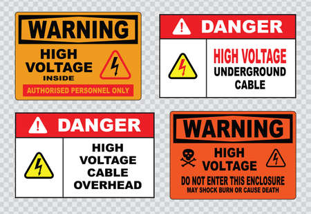 high voltage sign or electrical safety sign high voltage inside do not open high voltage within keep out do not touch.