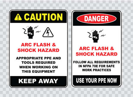 safety sign: high voltage sign or electrical safety sign