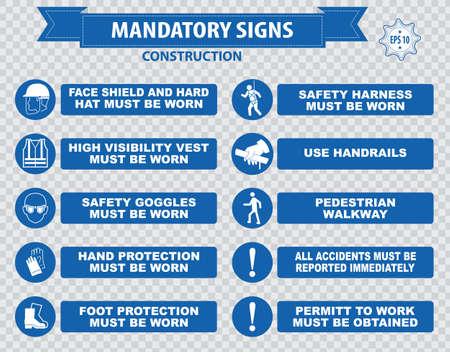 señales de seguridad: señal de seguridad sanitaria signos construcción obligatoria usado en aplicaciones industriales
