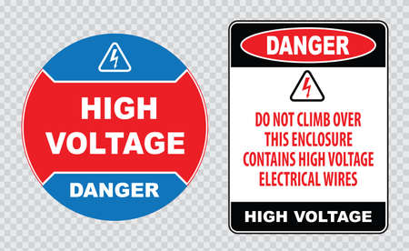 voltage sign: high voltage sign or electrical safety sign