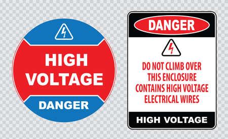 peligro: signo de alto voltaje o señal de seguridad eléctrica Vectores