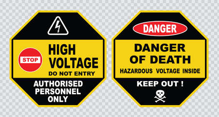 high voltage sign or electrical safety sign