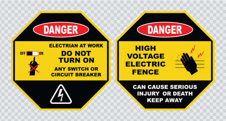 electrical safety: high voltage sign or electrical safety sign