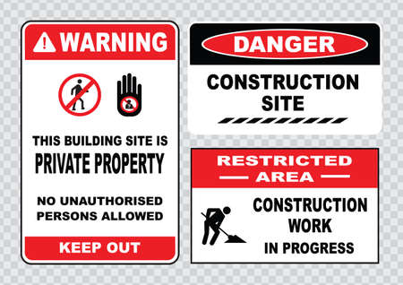 halt: site safety sign or construction safety construction area no unauthorized admittance danger construction area do not enter warning construction site.